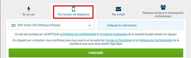 1xBet Utilisez votre mobile téléphone