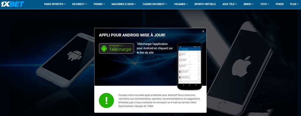 1xbet Telecharger application pour Android et iPhone ? 1xbet